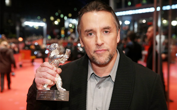 Richard Linklater with the Silver Bear at Berlinale