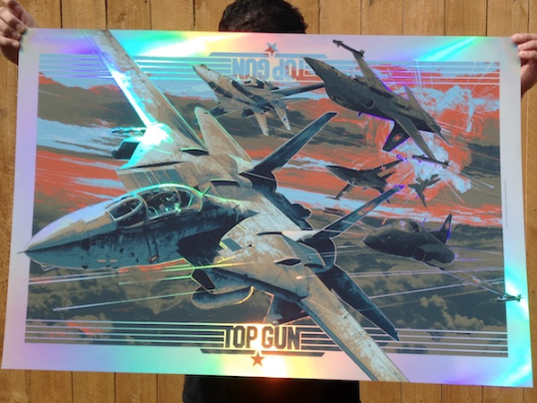 Top Gun Art Print - Gabz
