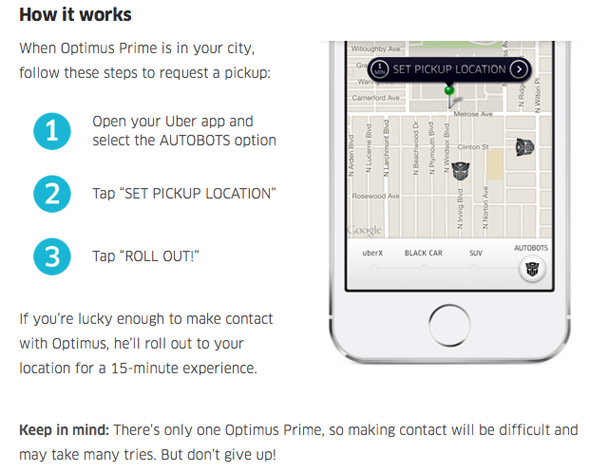 Optimus Prime on Uber - How it Works