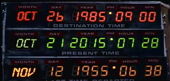 Back to the Future II Dates