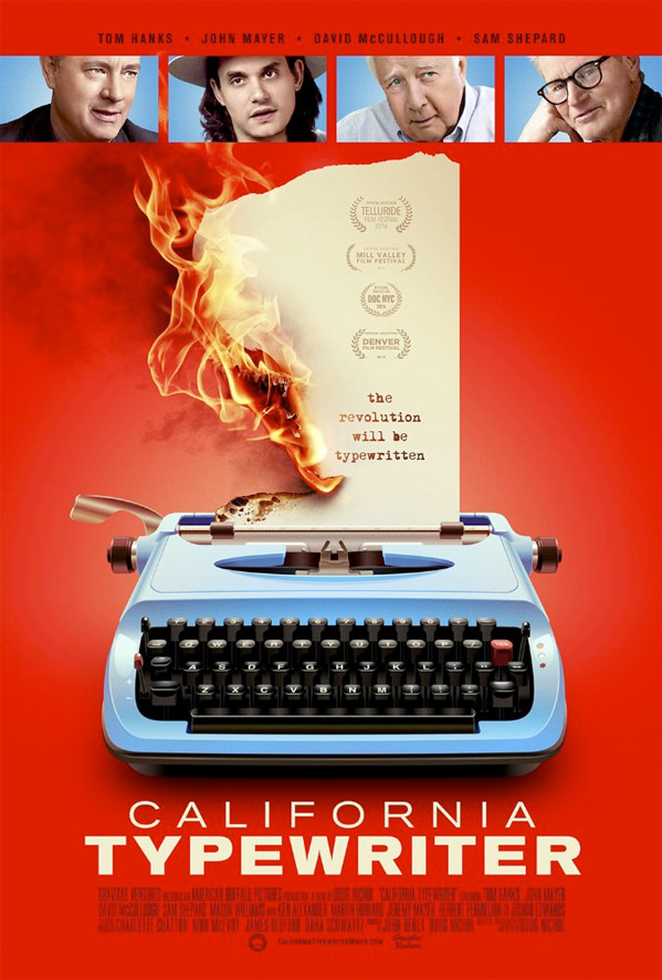 California Typerwriter Poster