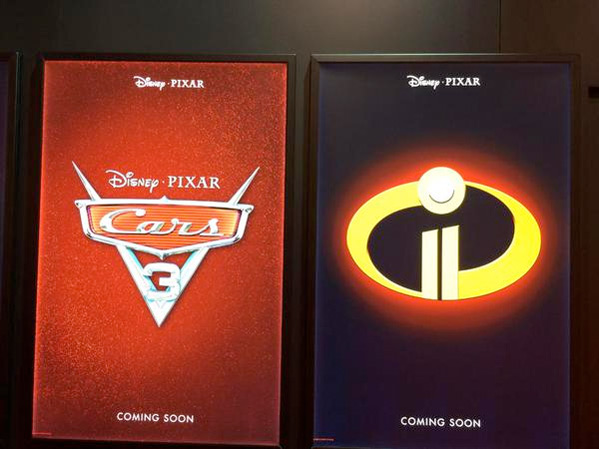 Pixar Posters - Cars 3 + The Incredibles 2