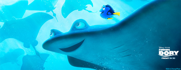Finding Dory Swimming