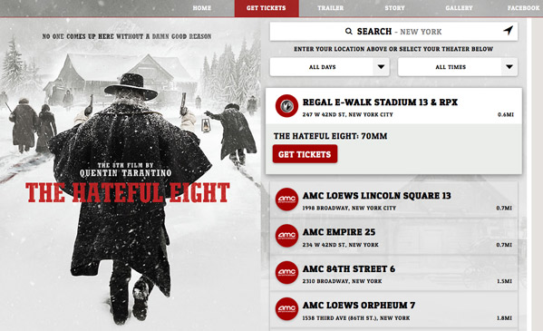 The Hateful Eight Tickets