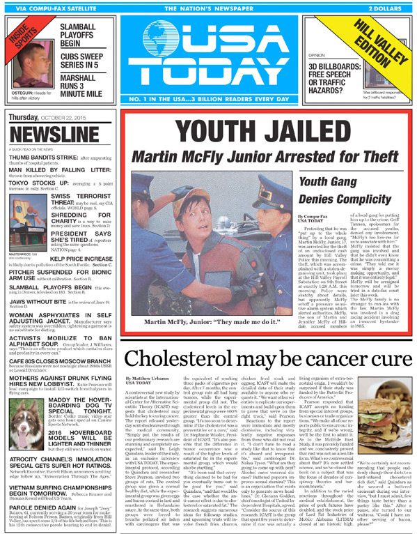 USA Today - Back to the Future Day