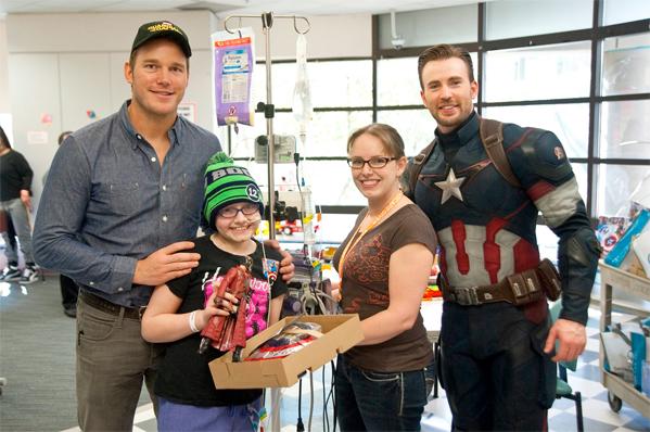 Chris Evans & Chris Pratt Charity Stop 2