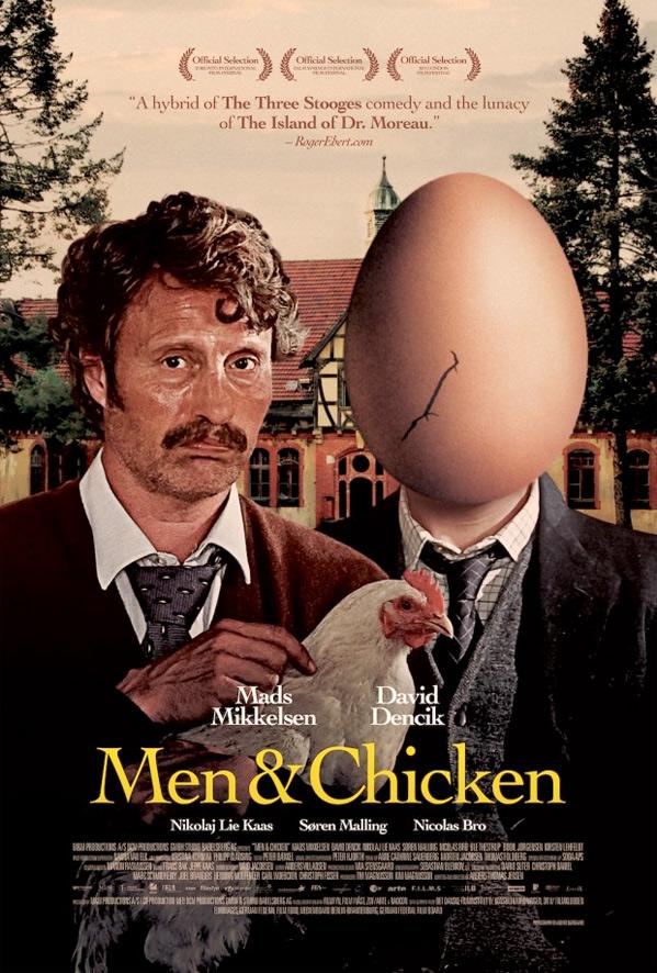 Men & Chicken Poster
