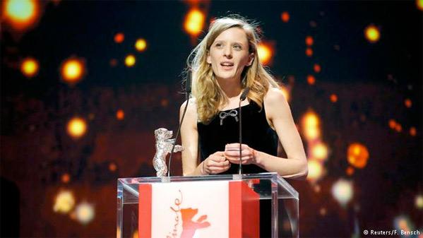 Mia Hansen-Løve receives her Silver Bear award