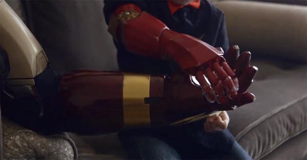 Robert Downey Jr. Delivers Iron Man Bionic Arm
